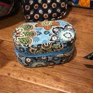 Vera Bradley Bali Blue hard  jewelry travel case.